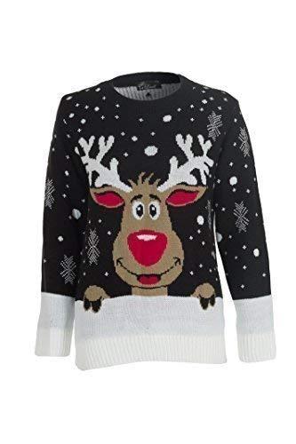 Mujere Navidad Saltadora De Punto Santa Monigote De Nieve Rudolf Reno Impresión Merry Xmas Copo De Nieve Duende Cárdigan Knitwear Larga Manga Cuello Redondo Pullover Suéter