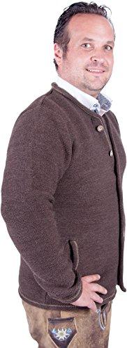 Almwerk Herren Trachten Strick Jacke Modell Xaver, Farbe:Braun;Größe:54 - 2