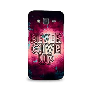 Mikzy Never Give Up Printed Designer Back Cover Case for Samsung J5