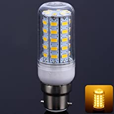 Zorbes B22 18W 56 SMD-5630 3000-3200K LEDs Bulb 3000-3200K 220V Transparent Corn Light