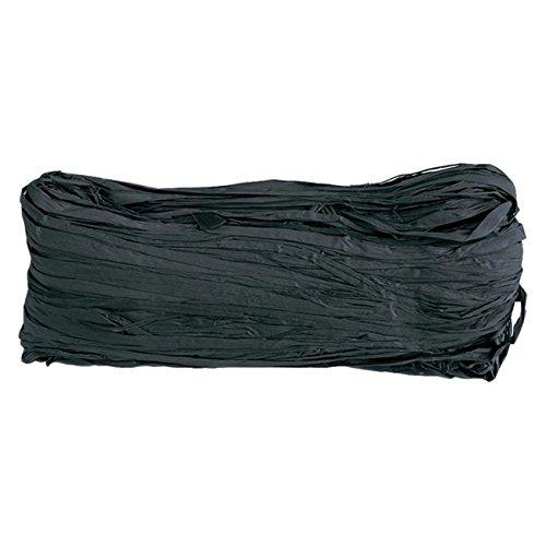 Farbiger Naturbast 50g schwarz