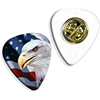 American Us Bald Eagle Logo Chitarra Pick Badge Distintivo (GD)