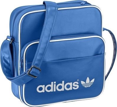 adidas Herren Tasche Adicolor Sir Bag, Blau/Weiß, 11 x 30