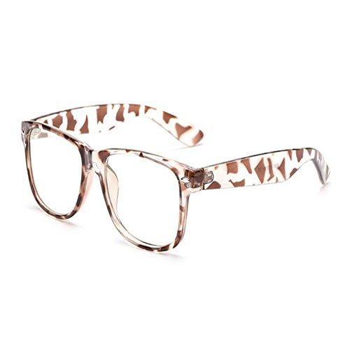 Aiweijia Blu-ray Filter Computer Brille Anti-UV-Brille Mode altmodische transparente Gläser