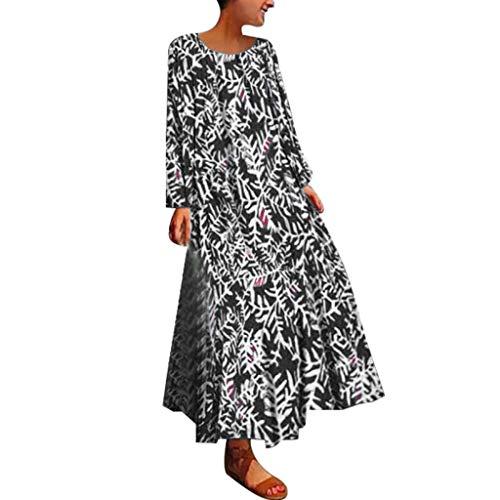 AZZRA Frauen Langes Fledermaushemd Kleid Blumendruck Kaftan OverGröße Kleid Prinzessin tüll v-Ausschnitt Braut Applique Abendkleid rückenfrei kurz Bustier Kleider mit blüte