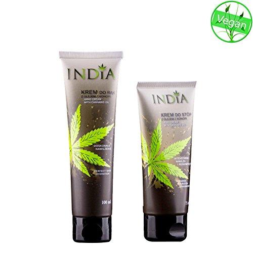 Hand-und Fußcreme im Doppelpack mit Cannabis Öl bei trockener Haut in Premiumqualität