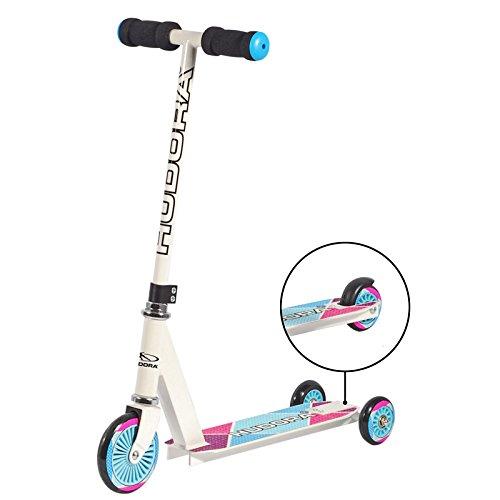 HUDORA Kinderroller Girl weiß 59,5 x 66 x 28 cm Roller Tretroller Cityroller Kickscooter Kickroller