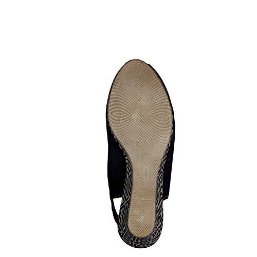 Tamaris Femmes Sandale compensée 1-29303-805 marine schwarz