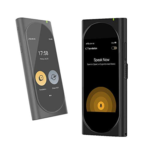 Langogo Translator AI Global WiFi Hotspot do podróży, dwukierunkowe urządzenie do natychmiastowego tłumaczenia głosowego w językach 105, zintegrowany eSIM, calowy wyświetlacz Retina 3,1 (czarny)