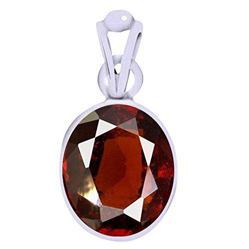 Ramneek Jewels Divya Shakti 6.25-6.50 Carats Hessonite Pendant/Locket (GOMED Stone Silver Pendant) 100% Original AAA…