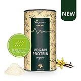 VEGAVERO® SPORT Vegan Protein Pulver | Vanille | 100% VEGAN & BIO | Leicht löslich | Toller Geschmack | Muskelaufbau* | Frei von Allergenen | Ohne Stevia & künstliche Süßungsmittel | 500 g
