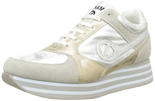 No Name Parko Jogger, Baskets Basses Femme Blanc (White)