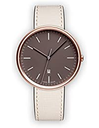 Uniform Wares M38 Quartz Watch with Grey Analogue Dial with Beige Leather Strap