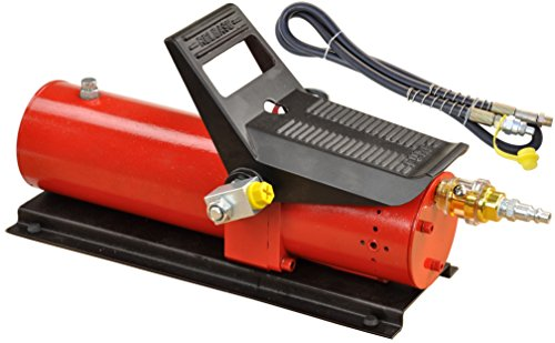 Pro-Lift-Montagetechnik Hydraulikpumpe 690 bar, pneumatische Bestätigung über Wippe, 700cm³, + Schlauch, T rot, 00969