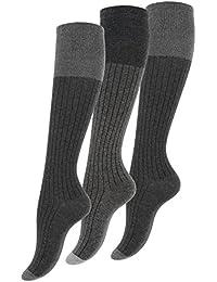 """Lot de 3 paires de chaussettes, mi-bas, pour les femmes, bicolore, original """"Vincent Creation®"""""""
