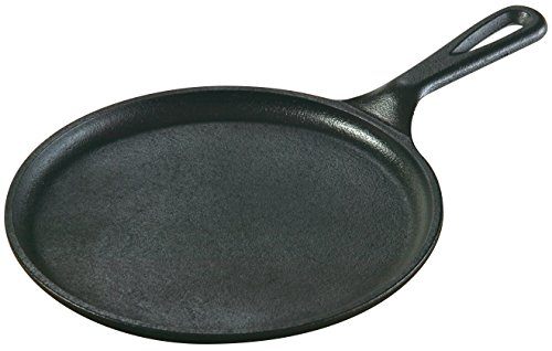 Lodge Seasoned Cast Iron 8.38 Inch Round Griddle Frying Pans at amazon