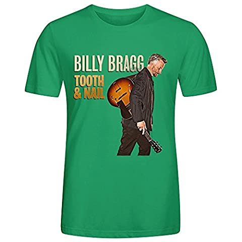 Billy Bragg Tooth Nail Homme T Shirts O Neck X-Large