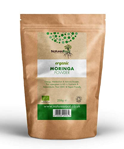 Natures Root Moringa in Polvere Bio 1kg - 100{3bbdb4e4ac70af7694250c8eb82fe934d02b2a30bb99ec11767ae8bdb96eff3f} Superfood Verde Naturale | Cibi integrali vegani | Senza OGM | Ricco di Antiossidanti