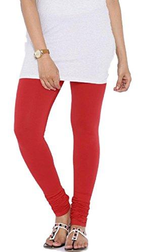 Priya Women Cotton Leggings(P3_Red_Free Size)