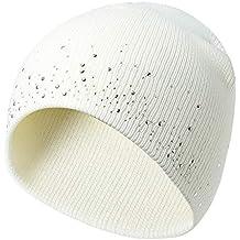Fogun Chapeau tricoté de Bonnet au Crochet, Femmes de Couleur Unie de  Chapeau de Ski 56d1c5afcd1
