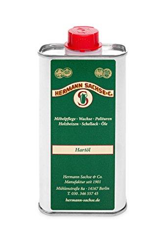 Hermann Sachse Holzöl Hartöl farblos für innen 250ml Pflegeöl für Möbel Tisch Arbeitsplattenöl Eiche Wildeiche Kernbuche Buche Nussbaum Kiefer Leinöl-Holzschutz zum Holz Ölen lösemittelfrei (Kirsche-holz-küche-tisch)