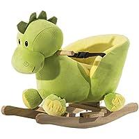 Homcom Schaukelpferd Kinder Schaukeltier Plüsch Schaukel Pferd Baby Schaukelspielzeug