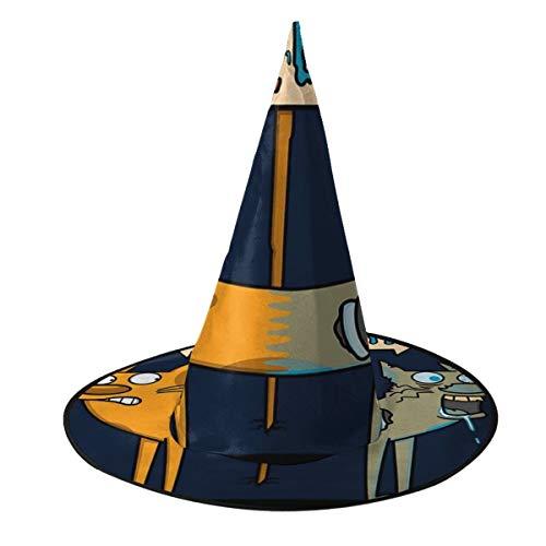 Kostüm Schrodinger's Katze - OJIPASD Catdog Schrodinger Katze Mix Hexenhut Halloween Unisex Kostüm für Urlaub Halloween Weihnachten Karneval Party