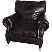 Casa Padrino luxury leather armchair Vintage Cigar Brown - leather armchairs Art Deco Lounge