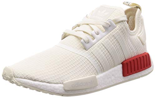 adidas Herren NMD_r1 Fitnessschuhe, Bianco,, 44 2/3 EU, Multicolore (White Owhite/Owhite/Lusred)