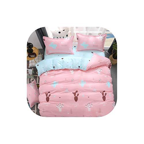Moily Fayshow Bettwäsche für Kinder Bettwäsche-Sets Cactus 4 Stück 180 * 220 Bettbezug-Set Heimschlaf, 18, Twin 3 Pcs, flaches Blatt (Bettwäsche Für Kinder, Zweibettzimmer)