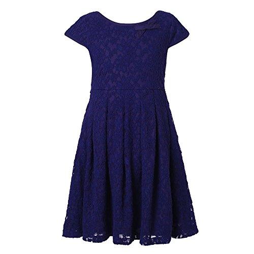 Richie House Mädchen elegant Spitzenkleid RH2222-A-11/12-FBA (Hübsche Kleider Für 10 Jährigen)