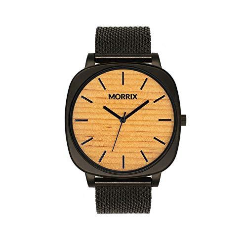 MORRIX - Holzuhr - Holz Armbanduhr - Uhr aus Holz für Herren und Damen (Oregon Pine)