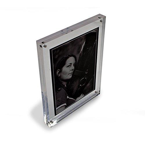 freistehend poliert transparent ACRYL MAGNETISCH Foto Rahmen in 8 Größen ( DSTF - Durchsichtig, 10