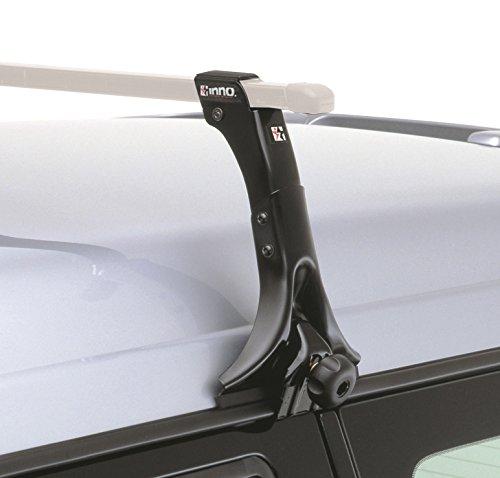 INNO 4Stück schwarz Dach Rack bleibt mit Verriegelungssystem für Abstände auf Fahrzeugen (27,9cm)