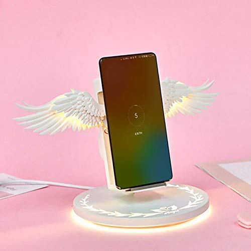 QI Ladestation Wireless Charger Angel Wings,10w Tragbares Induktives Ladegerät Unterstützt alle kabellosen Ladegeräte für Smartphones -