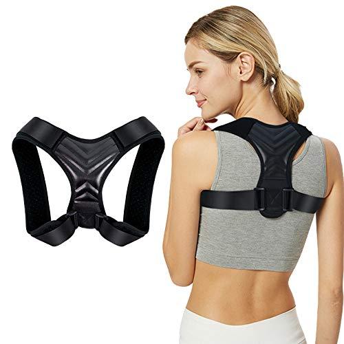 Schultergurt Haltungskorrektur Geradehalter Rücken für Damen und Herren Rückenstütze Haltungstrainer Bessere Körperhaltung Rücken, Nacken und Schultern (Schwarz, XS)