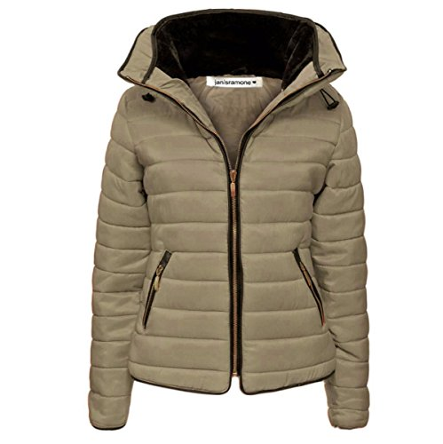 Janisramone Kids Girls Boys New Puffer Bubble Padded Quilted Jacket Fur Collared Zip Up Warm Thick Coat