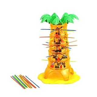 YeahiBaby Affenspiel Tumbling Affe Mini Affe Figur Tierfiguren Spielzeug mit Mikado Geschicklichkeitsspiel Partyspiel für Kinder