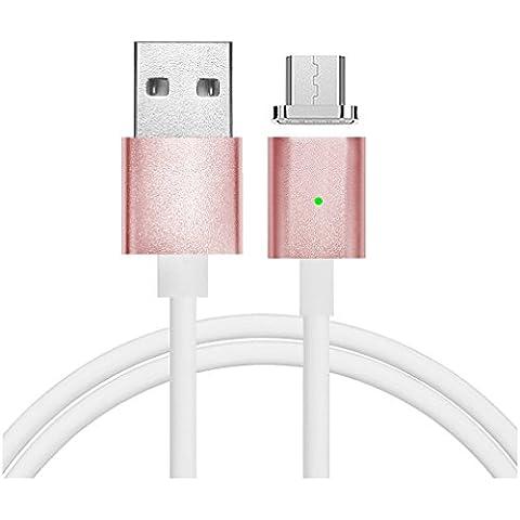 First2savvv rosa Super Forte Cavo micro USB con calamita. Connessione