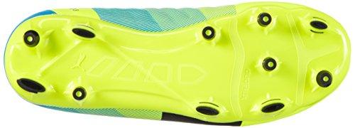 Puma evoPOWER 3.3 FG Jr, Chaussures de football mixte enfant Jaune - Gelb (safety yellow-black-atomic blue 01)
