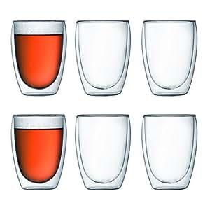 Bodum 4559-10-12 pavina 6-teiliges Gläser-Set (Doppelwandig, isoliert, 0,35 liters) transparent