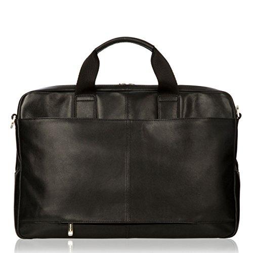 Knomo Amesbury Laptop-Aktentasche aus Leder (15,6 Zoll) – schwarz (Knomo Laptop-taschen)