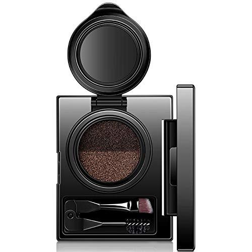Kit Contour Double Palette Sourcils 1set de maquillage avec miroir Sourcils pinceau cosmétique Beauté Sourcils Pochoirs doux surligneur gris Tempérament