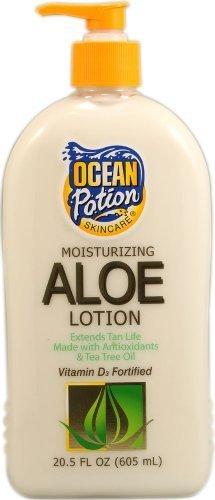 Ocean Potion Lotion hydratante à l'aloe vera - Flacon pompe de 605 ml - Prolongateur de Bronzage