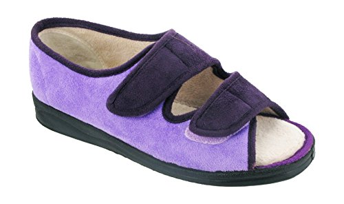 Mirak Louise - Pantofole Spuntate con Chiusura in Purple