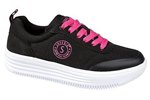 gibra , Baskets pour femme noir/rose