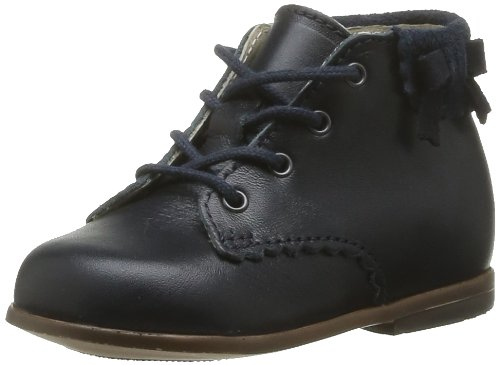 Little Mary Olea, Chaussures Premiers pas bébé fille, Bleu (Vachette Marine), 21 EU