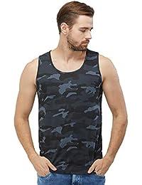 fa9c20c9230a82 WYO Men s Camouflage Sleeveless Casual Cotton Sports Gym Wear Vest (Plain  Vest - Green Camo