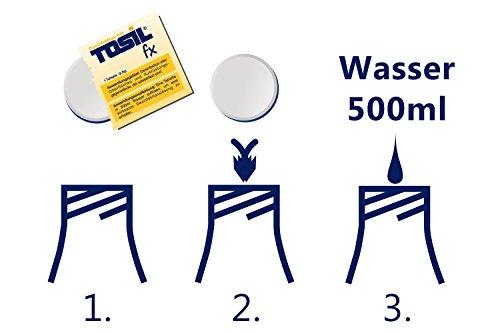 TOSIL fx Startpaket (25 Tabs/Tabletten) – Desinfektionsmittel, wirksam gegen Bakterien, Viren, Pilze & Parasiten (Giardien & Kokzidien), Wirkstoff: Chloramin-T - 4