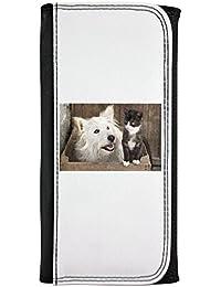 Amigos animales gato y perro piel sintética tipo cartera